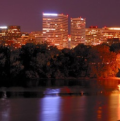 Rosslyn VA at night