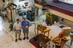 Steven and Stewart Wegner in their foundry.