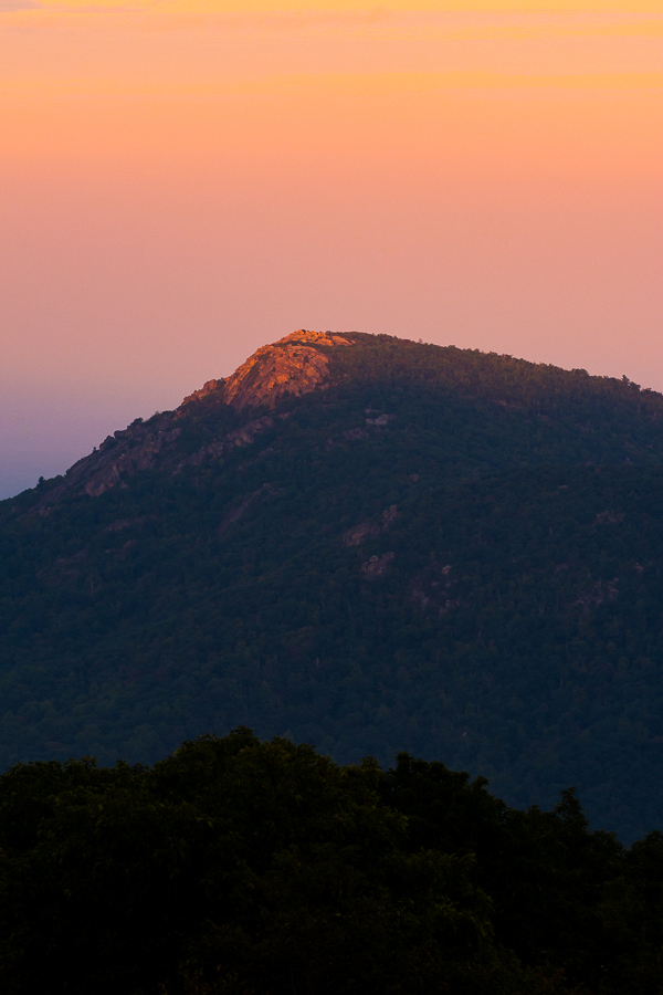 Last Light of Day on Old Rag Mountain