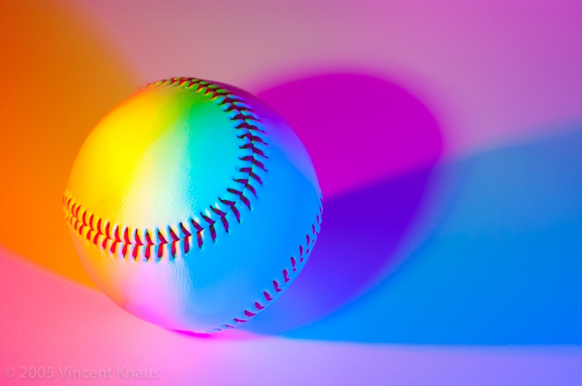 Baseball on White Background